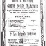 Affiche du premier concert le 25 mars 1894