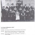 Troupe théâtrale en 1907